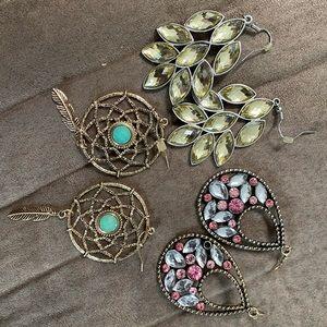 1 for $3 or 3 for $7 earrings